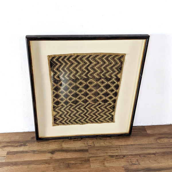 "Slater Home Furnishings Framed ""Antique Kuba Cloth"""