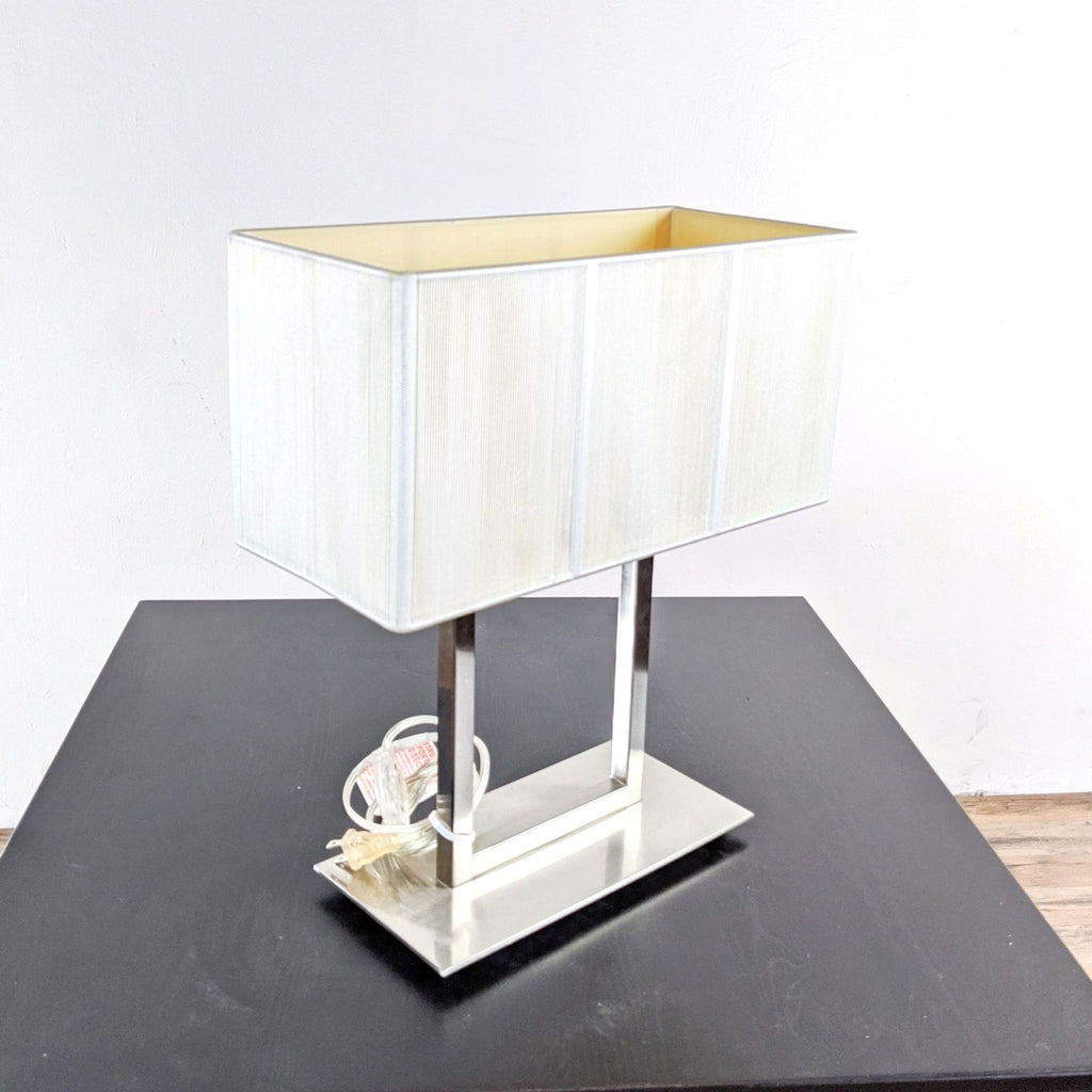 Crate & Barrel Stainless Steel Table Lamp