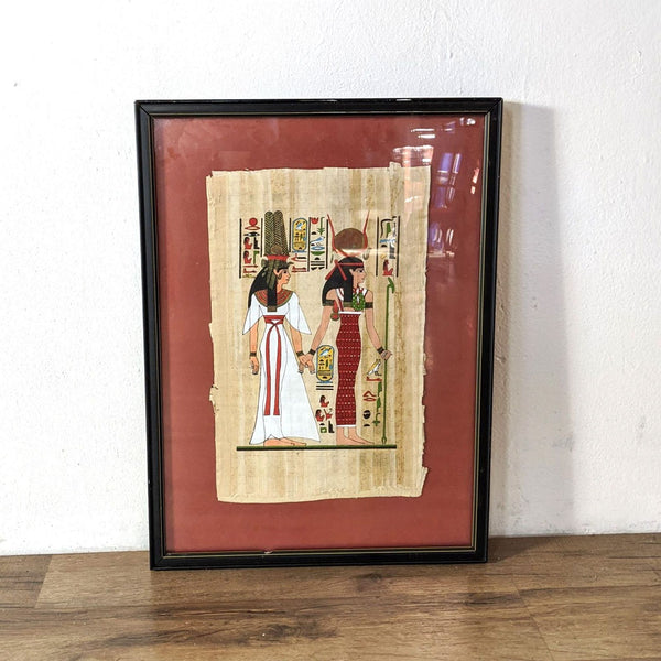 """Nefertari Led by Isis"" Hand- Painted On Papyrus"