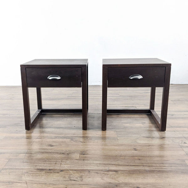Pair of Wooden End Tables