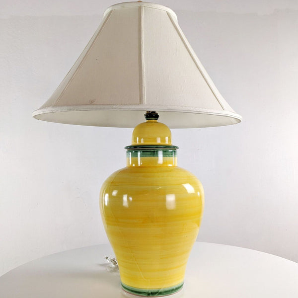 Yellow Ceramic Table Lamp with Shade