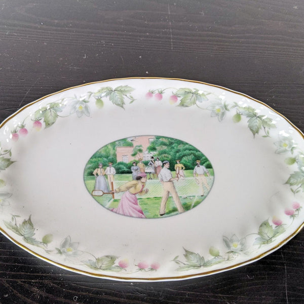 "Minton ""On the Lawn"" Oval Plate from the Wimbledon Collection"