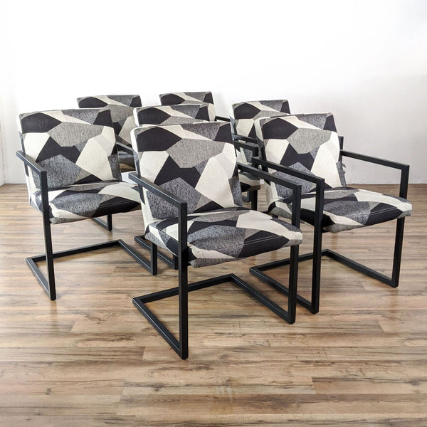 Set of Seven Room & Board Lira Dining Chairs