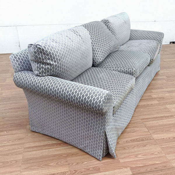 A. Rudin Gray Upholstered Sofa