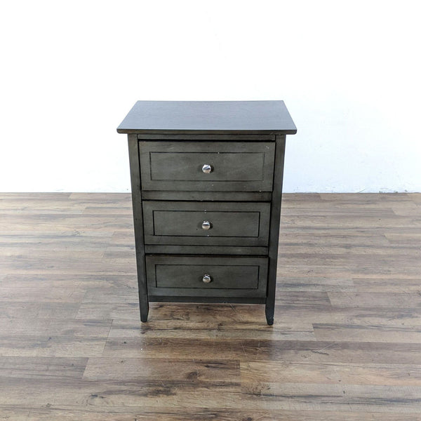 Glory Furniture Daniel Transitional Gray 3 Drawer Nightstand