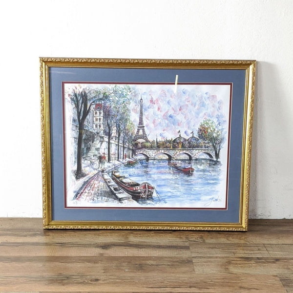 Framed French Landscape Painting