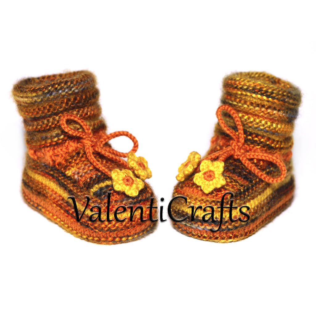 Baby booties knitting pattern 3 sizes