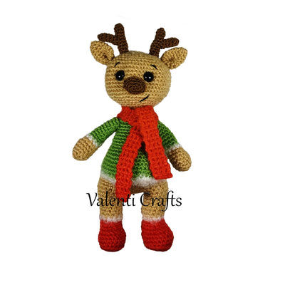 Christmas deer crochet pattern