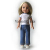 Wellie Wishers crochet pattern clothes set, t-shirt, shorts and jeans