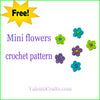 Free crochet mini flowers pattern