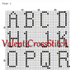Cross stitch alphabet pattern