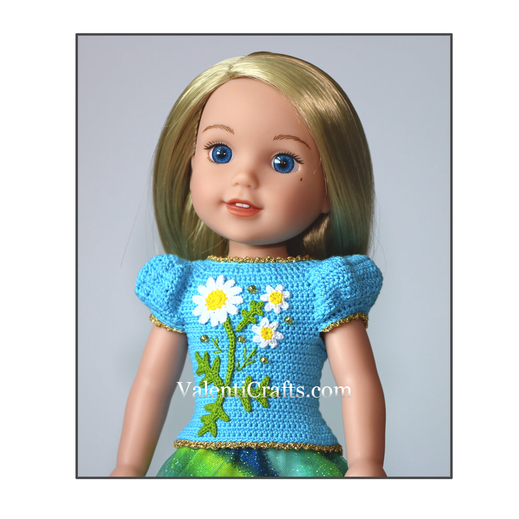 Crochet doll clothes pattern for American Girl Wellie Wishers