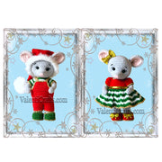 Lily and Leo mouse crochet toys patterns