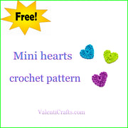 Free crochet pattern mini hearts