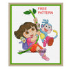 Dora free cross stitch pattern