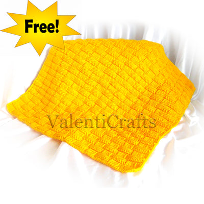 Free knitting baby blanket pattern