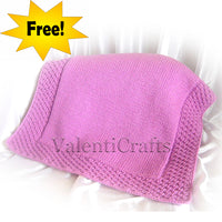 Free easy baby blanket knitting pattern