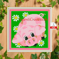 Little Pig Cross Stitch Pattern