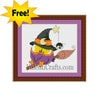 Halloween, Owl Free Cross Stitch Pattern