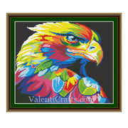 Rainbow Hawk Cross Stitch Pattern