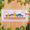 Winter Small City Cross Stitch Pattern