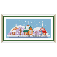 Small Village Cross Stitch Pattern