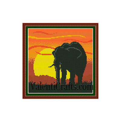 Elephant Cross Stitch Pattern