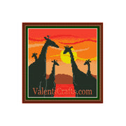 Giraffes Cross Stitch Pattern