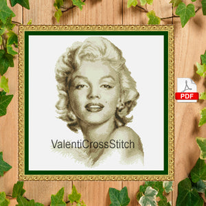 Marilyn Monroe Cross Stitch Pattern
