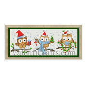 Christmas owl cross stitch pattern, patterns, cross stitch, owl, owls, christmas