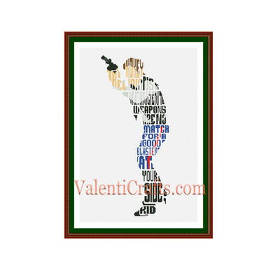 Han Solo  cross stitch pattern