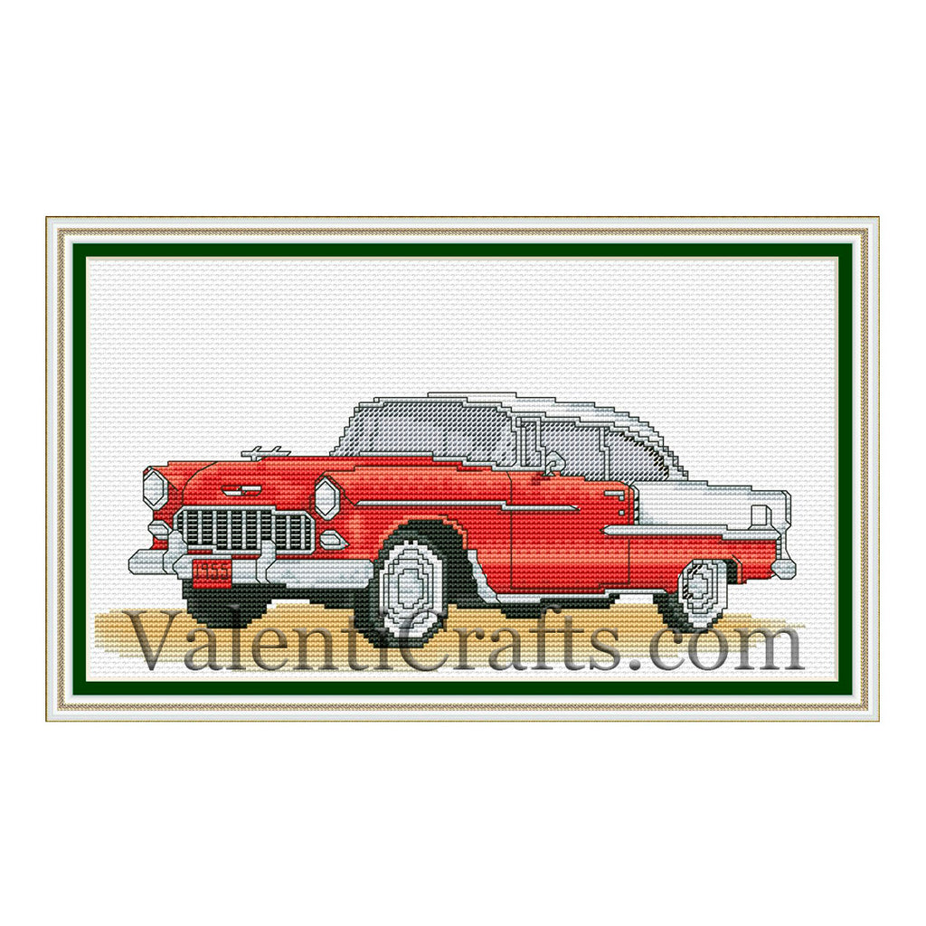 Chevrolet 1955. Cross Stitch Pattern