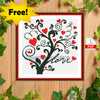 Love Tree Cross Stitch Pattern