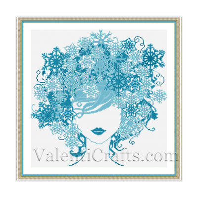 Lady Winter Cross Stitch Pattern