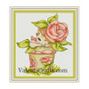 Baby Rose Cross Stitch Pattern