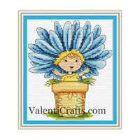 Chamomile Baby Cross Stitch Pattern