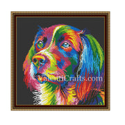 Rainbow Dog Cross Stitch Pattern