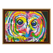Colour Owl Cross Stitch Pattern