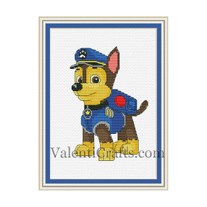 Chase Paw Patrol Cross Stitch Pattern