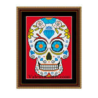 Sugar Skull - 1 Cross Stitch Pattern