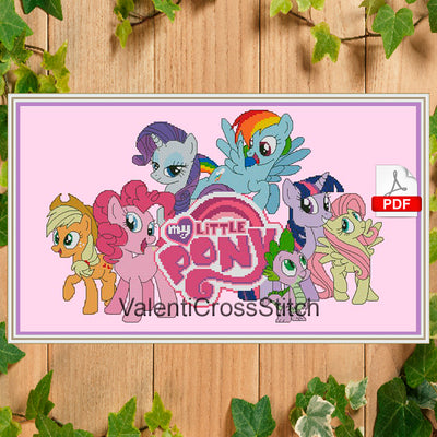 My little pony Cross Stitch Pattern