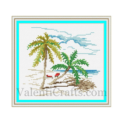 Beach Cross Stitch Pattern