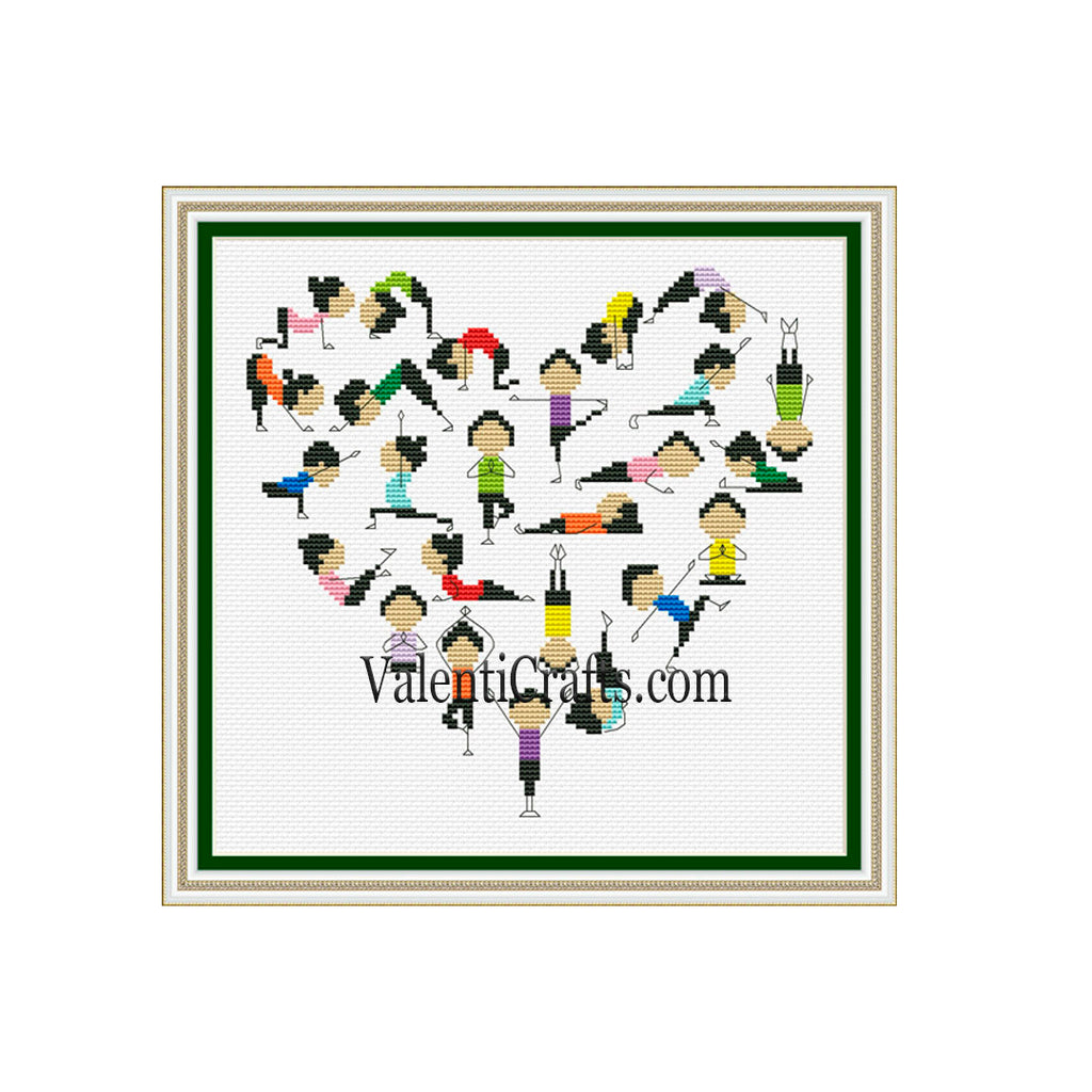 I love yoga Cross Stitch Pattern