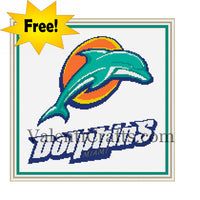 Miami Dolphins Free Cross Stitch Pattern