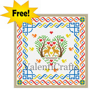 FREE cross stitch pattern Deers