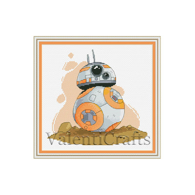 Star Wars BB-8 Cross Stitch PATTERN