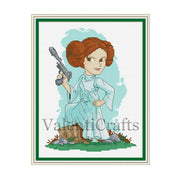 Princess Leia Star Wars Cross Stitch Pattern
