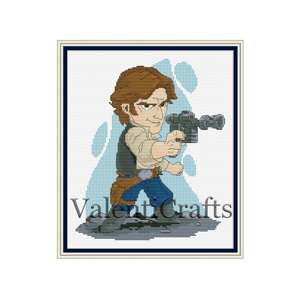 Han Solo star wars cross stitch pattern