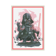 Darth Vader cross stitch pattern