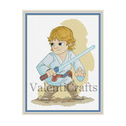 Luke Skywalker cross stitch pattern